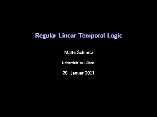 Regular Linear Temporal Logic